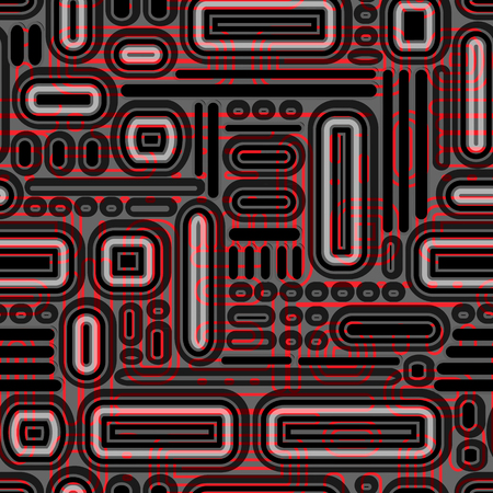 intersect: intersected mosaic seamless pattern Illustration