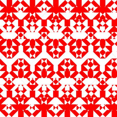 intersected mosaic seamless pattern 矢量图像
