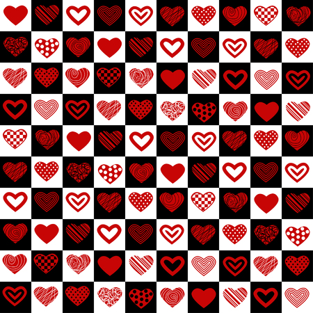 Valentine's seamless pattern with hearts