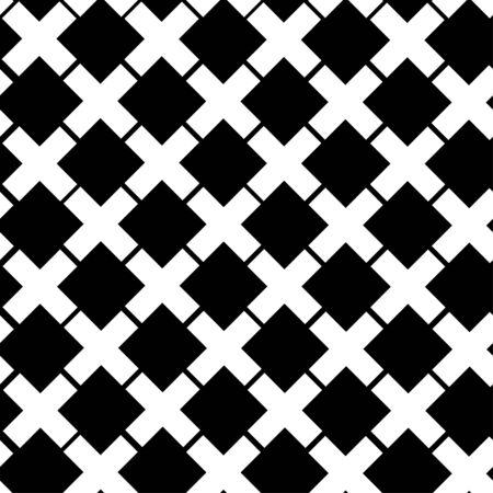 Seamless Cross Pattern, vector illustration 矢量图像