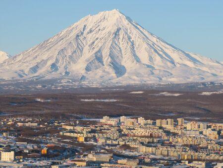 Petropavlovsk-Kamchatsky cityscape. Far East, Russia. Stok Fotoğraf