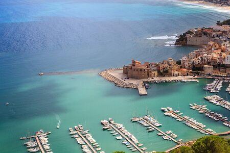 castellammare del golfo: panoramic view of Castellamare del Golfo, Sicily,Italy