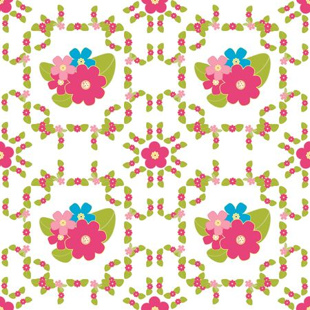 calico: Floral background, seamless vector floral pattern for cushion, pillow, bandanna, silk kerchief or shawl fabric print. Texture for clothes and bedclothes