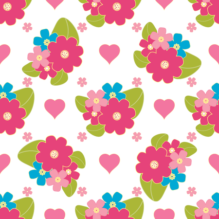 bandanna: Floral background, seamless vector floral pattern for cushion, pillow, bandanna, silk kerchief or shawl fabric print. Texture for clothes and bedclothes