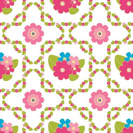 bedclothes: Floral background, seamless vector floral pattern for cushion, pillow, bandanna, silk kerchief or shawl fabric print. Texture for clothes and bedclothes