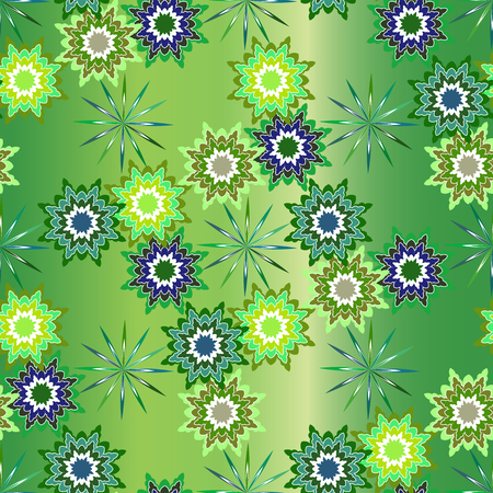 jitter: Wrapper background, seamless vector pattern for christmas, holidays. Cushion, pillow, bandanna, silk kerchief or shawl fabric print. Texture for clothes and bedclothes Illustration