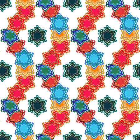 jitter: Stylized jitter background, seamless vector pattern for cushion, pillow, bandanna, silk kerchief or shawl fabric print. Texture for clothes and bedclothes