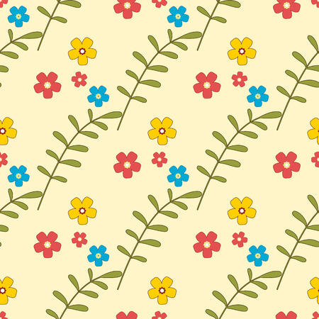 calico: Floral background, seamless vector pattern for cushion, pillow, bandanna, silk kerchief or shawl fabric print. Texture for clothes and bedclothes