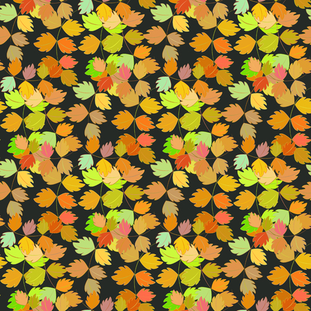 calico: Seamless vector pattern, autumn design. Cushion, pillow, bandanna, silk kerchief or shawl fabric print. Texture for clothes and bedclothes