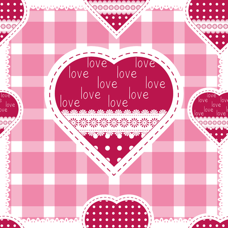 buttercup  decorative: Seamless background for cushion, pillow, bandanna, kerchief, shawl fabric print. Texture for clothes and bedclothes. Vector pattern with hearts for Valentines day. Embroidery stylization Illustration