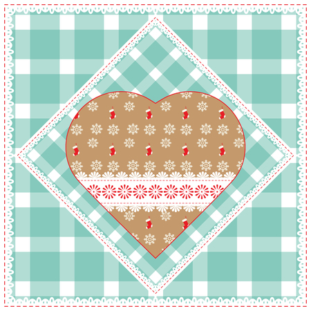 buttercup  decorative: Floral background with decorative patchwork hearts. Easter vector pattern for cushion, pillow, bandanna, silk kerchief or shawl fabric print. Texture for clothes, bedclothes. Embroidery stylization