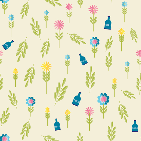 buttercup  decorative: Cute flat background, vector pattern with forget-me-not flowers. Seamless vector floral pattern for cushion, pillow, bandanna, silk kerchief or shawl fabric print. Texture for clothes, bedclothes