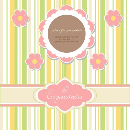 Baby beautiful card Vector