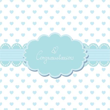 congratulations card: Baby invitation card