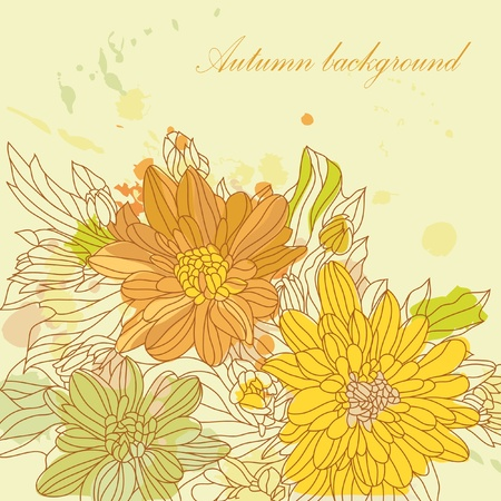 Autumn card scrapbooking with your text for invitation, design, illustration, card, invitation, label, greeting, anniversary Stock Vector - 11830232
