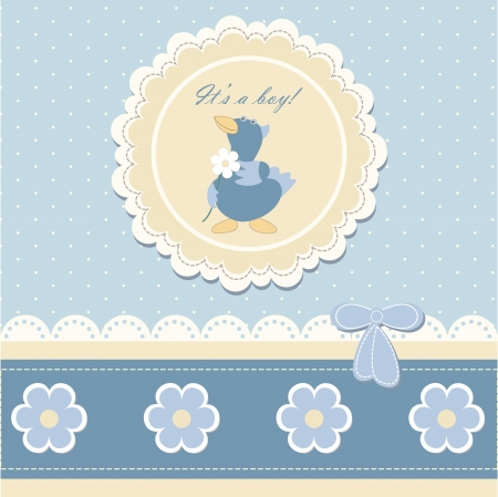Baby beautiful boy card with your text  Illustration