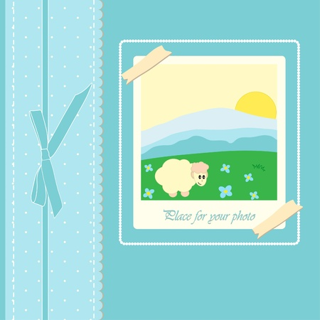 Baby beautiful boy card with your text for invitation Stock Vector - 13654403
