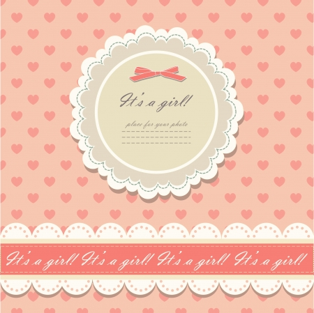 Romantic scrapbooking with your text  Stock Vector - 13654497