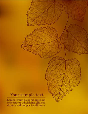 Autumnal background with your text Vector