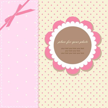 Romantic scrapbooking with your text  Vector