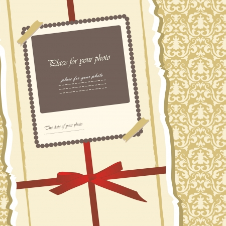 Romantic scrapbooking for invitation, greeting, birthday, label, postcard, frame, gift and etc   Vector