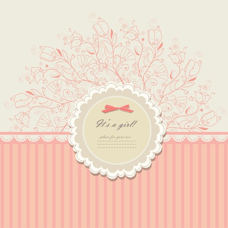 Romantic scrapbooking with your text for invitation Illustration