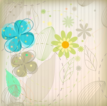 Seamless fashion flower background  eps 10  Vector