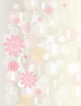 Retro floral grunge background with boke for valentine day  vector eps 10  Stock Vector - 14189849