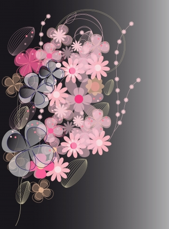 Vector flower background (eps 10)  Vector