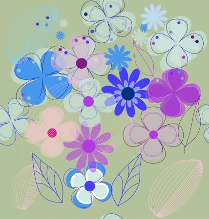 Seamless flower background (eps 10)  Stock Vector - 14189914