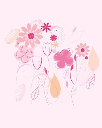 Seamless fashion flower background (eps 10) Stock Vector - 14189878