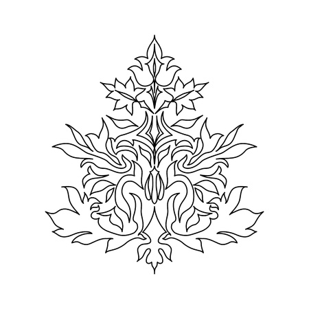 flair: Vintage ornament isolated on white background