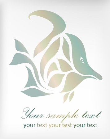 fish isolated on background Vector