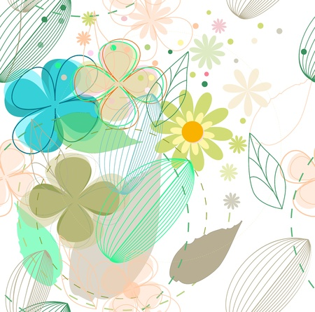 flower seamless background Stock Vector - 14298537