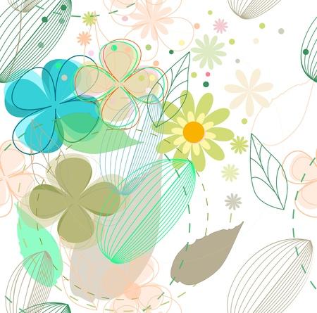 flower seamless background Stock Vector - 14298537