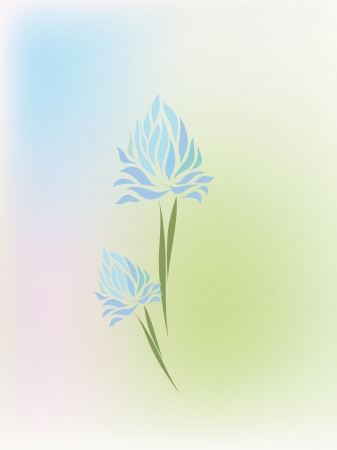 Vintage clover hand drawing isolated on pastel background Vector