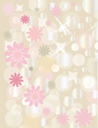Retro floral grunge background with boke for valentine day  Vector
