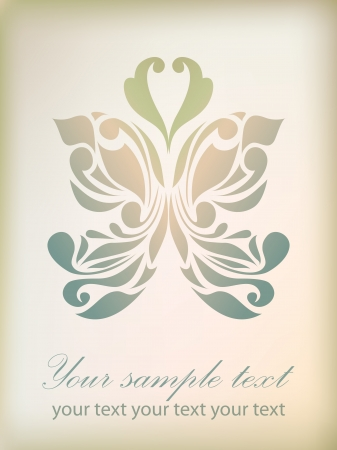 Retro floral background for valentine day with your text  As sign, symbol, icon, tattoo, web, label, logo Vector
