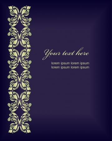 hojas parra: Fondo retro floral para día de San Valentín Vectores