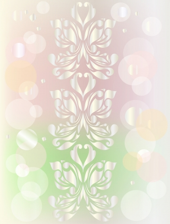 Retro floral background for valentine day Stock Vector - 14298566