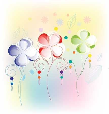 Flower background isolated on white Stock Vector - 14298681