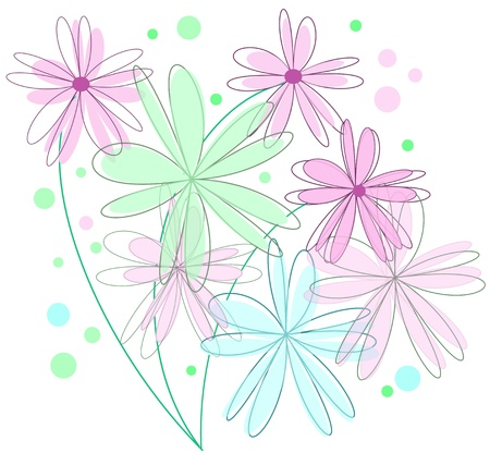 Flower background isolated on white Stock Vector - 14298544