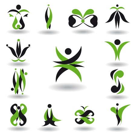 Set of different abstract elements for design for logo Vector