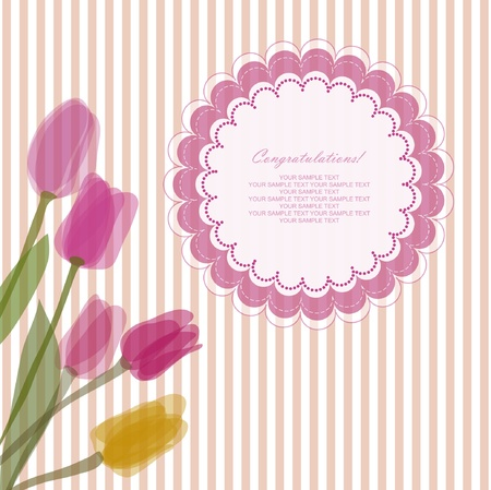 Romantic baby retro card with your text for invitation, wedding, greeting, wallpaper, congratulate, scrapbooking Stock Vector - 14327380