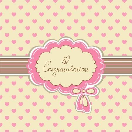 verjaardag frame: Mooie baby uitnodigingskaart achtergrond met uw tekst