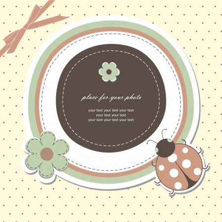 Baby card with ladybird Vector