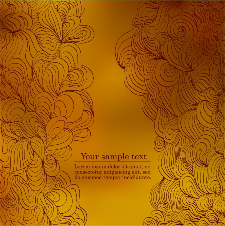 Autumn beautiful background with your text version  Vector