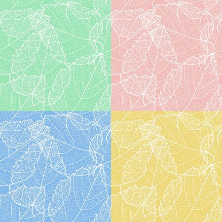 sceleton: Set of 4 autumnal seamless for card