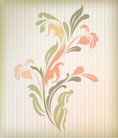 Retro floral background for card  Stock Vector - 14387886