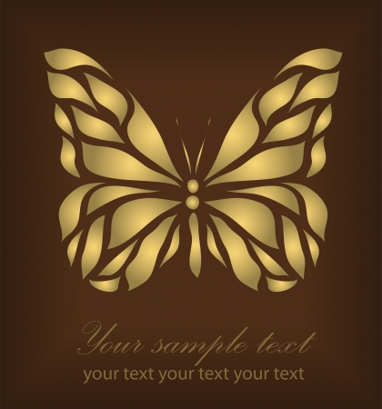 Vintage Ornament isolated on brown background with your text  Vector